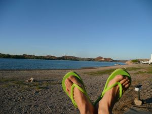 feet on the beach for blog