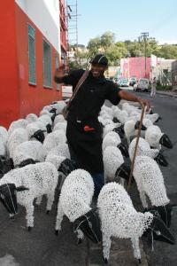 He would have made his life much easier if he had just made himself a wire-and-bead sheepdog or two!