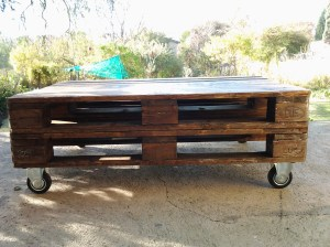 As flat and smooth as a cleverly repurposed piece of industrial furniture put together by a naturally gifted carpenter.
