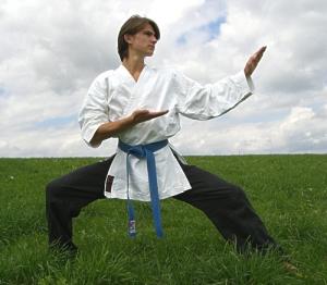 It was damn lucky it wasn't. I know a bit of karate myself!