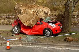 You may laugh, but in some parts of the world using cars to move large rocks around is a common practice.