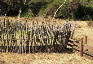 A traditional African kraal.