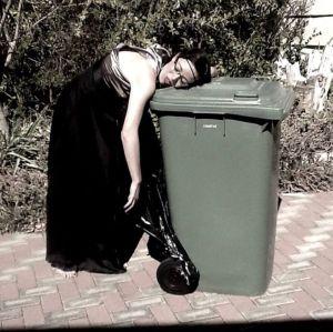 ...her dustbin.